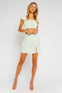 Olivaceous Ditsy Floral Mini-Skirt - Product List Image