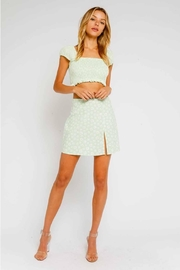 Olivaceous Ditsy Floral Mini-Skirt - Product Mini Image