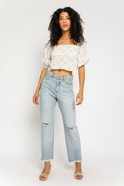 Olivaceous Ditsy Floral Top - Front full body