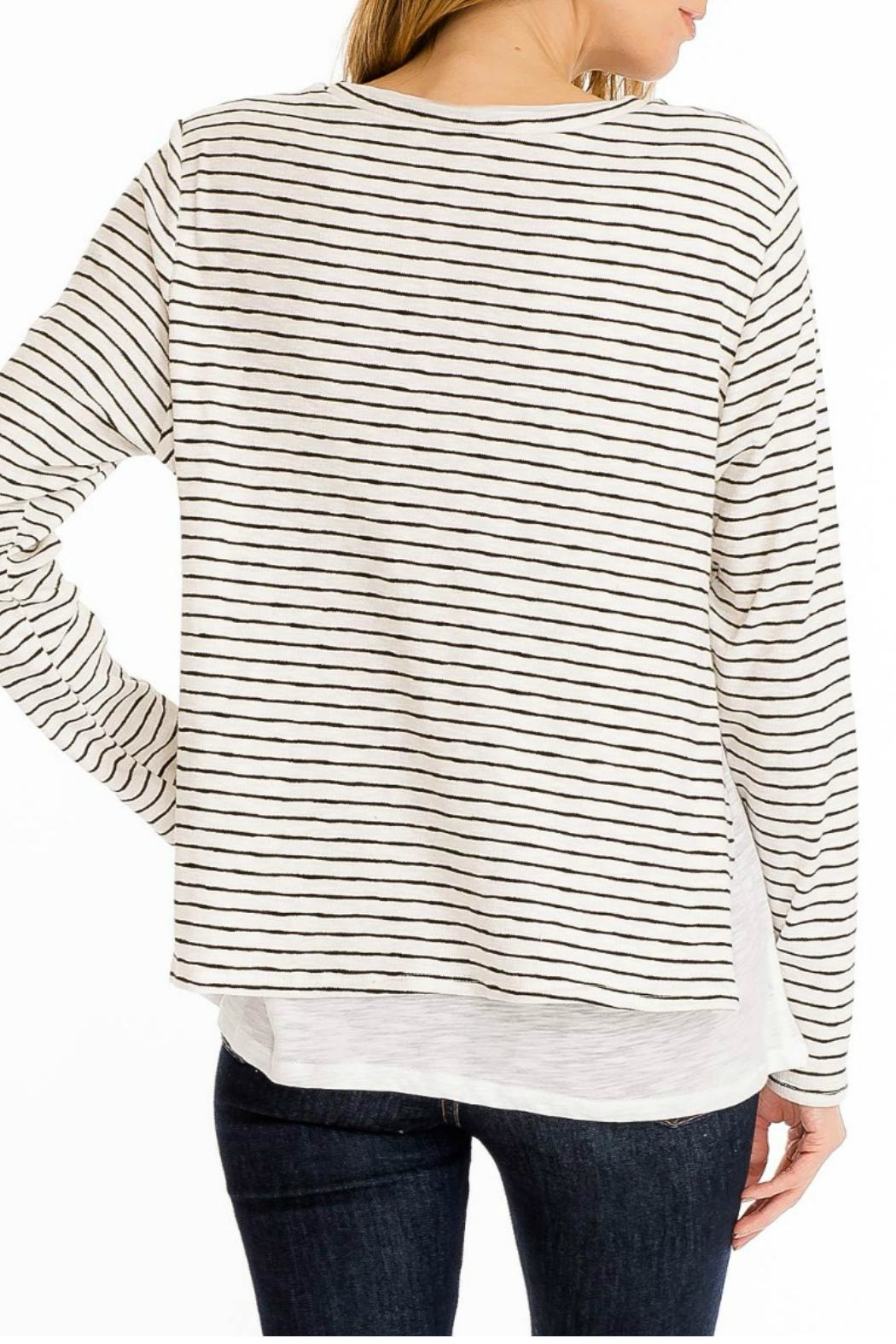 Olivaceous Double Lined Sweater - Side Cropped Image
