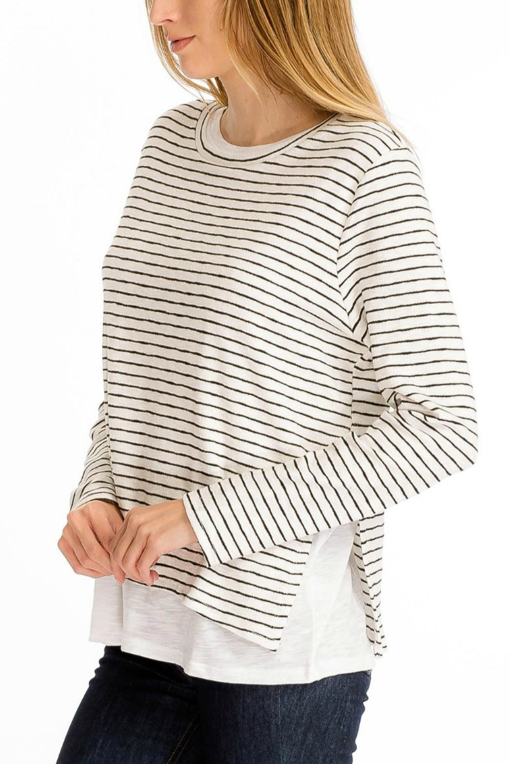 Olivaceous Double Lined Sweater - Front Full Image