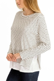 Olivaceous Double Lined Sweater - Front full body