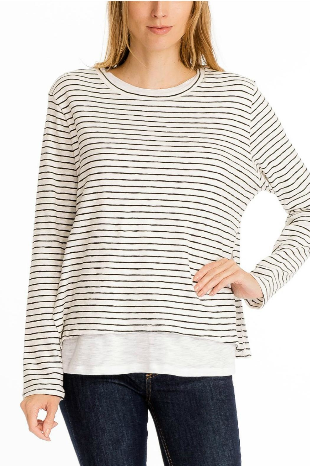 Olivaceous Double Lined Sweater - Front Cropped Image