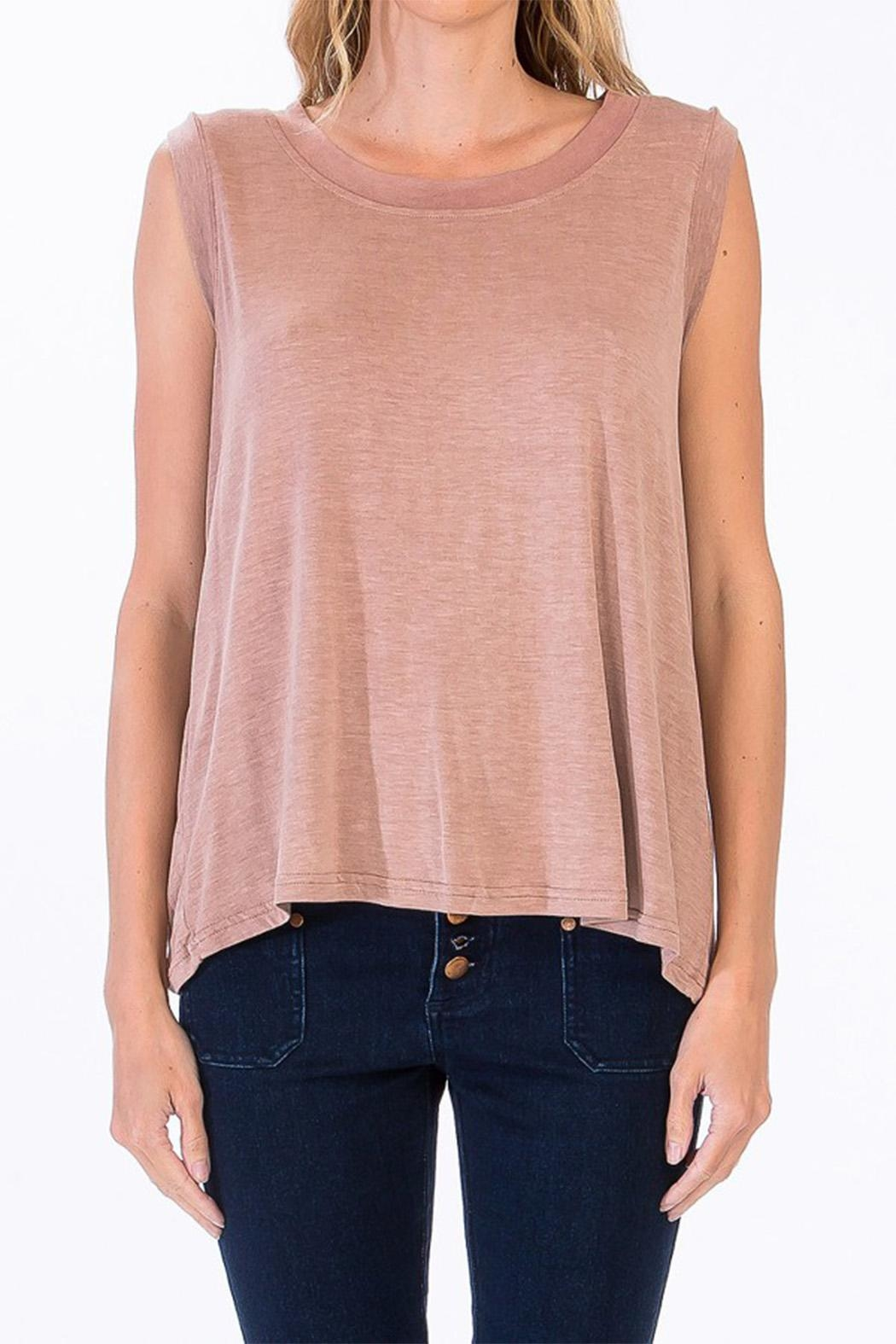 Olivaceous Drop Back Tank - Front Cropped Image