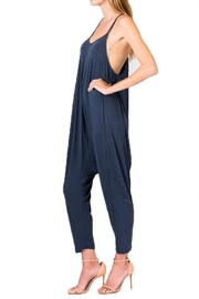 Olivaceous Dropcrotch Jumpsuit - Front full body
