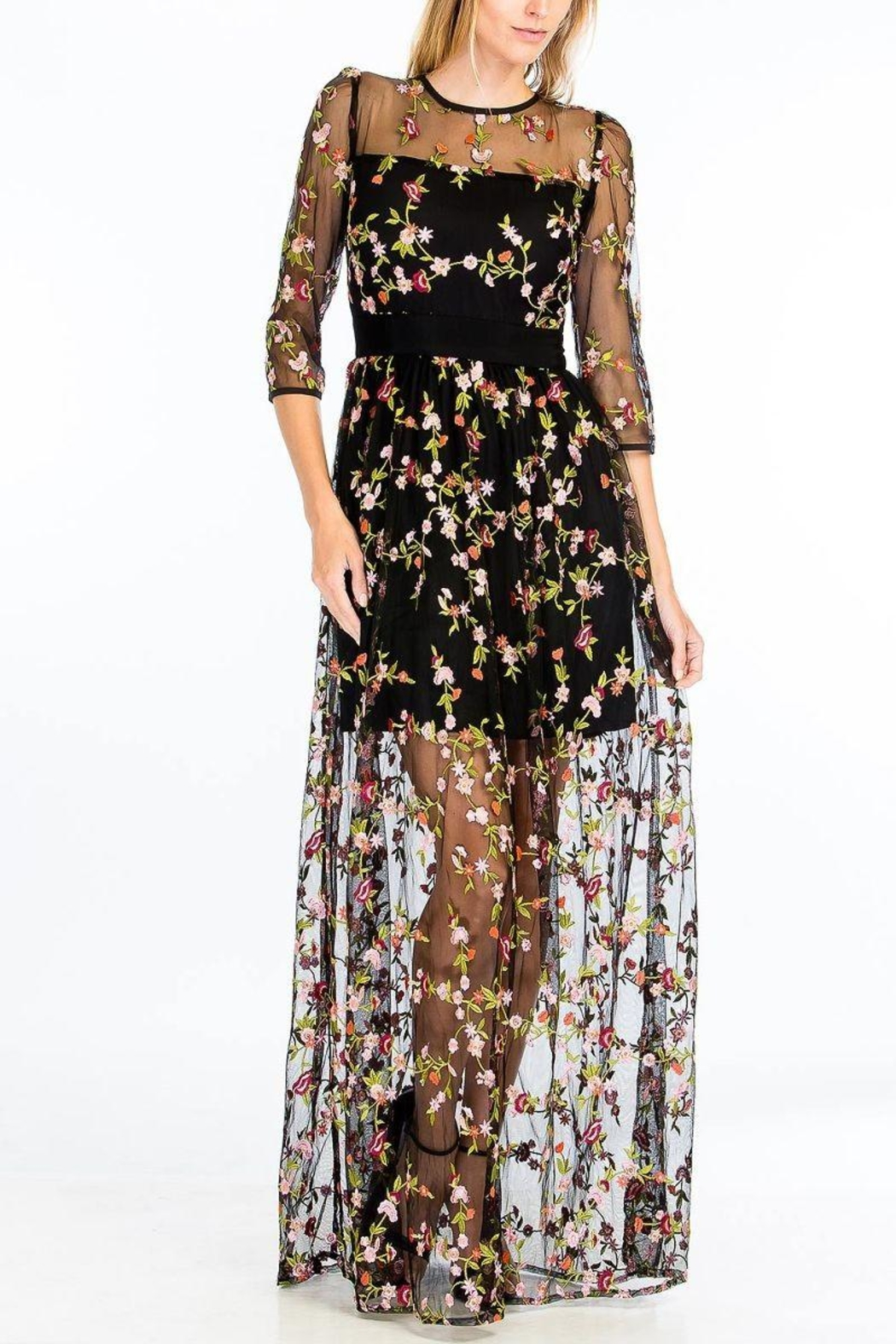 Olivaceous Enchanted Dress - Side Cropped Image
