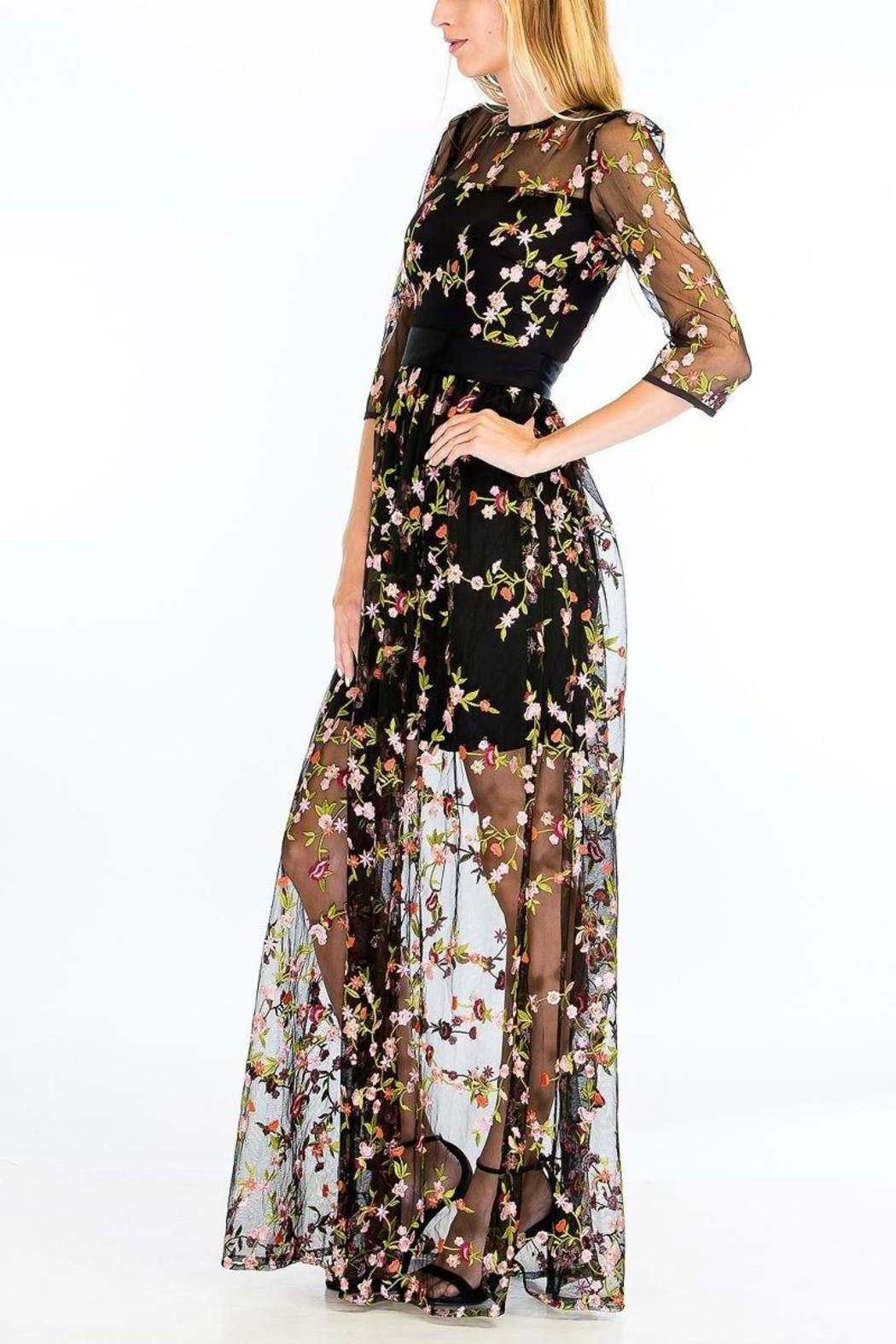 Olivaceous Enchanted Dress - Front Full Image