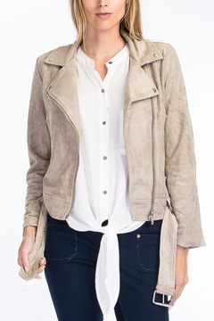 Olivaceous Faux Suede Jacket - Product List Image