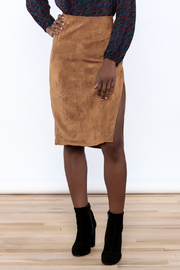 Olivaceous Faux Suede Skirt - Product Mini Image