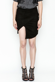 Olivaceous Faux Suede Skirt - Front full body