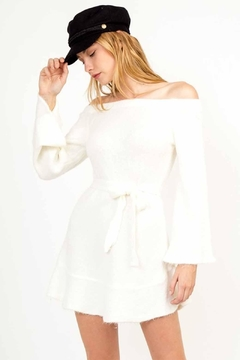 Olivaceous Fit & Flare Sweater Dress - Alternate List Image