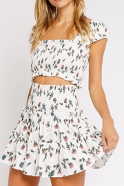 Olivaceous Flirty Floral Crop - Front cropped