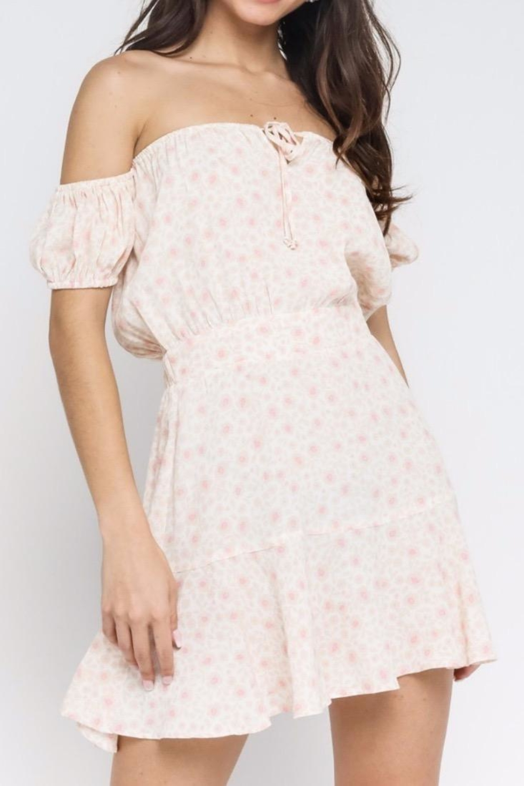 Olivaceous Flirty Spring Dress - Main Image