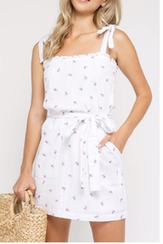 Olivaceous Flirty Tie Dress - Front cropped