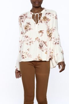 Shoptiques Product: Floral Bell Sleeve Blouse
