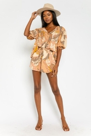 Olivaceous Floral Drawstring Shorts - Product Mini Image