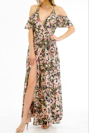 Olivaceous Floral Maxi Dress - Front cropped