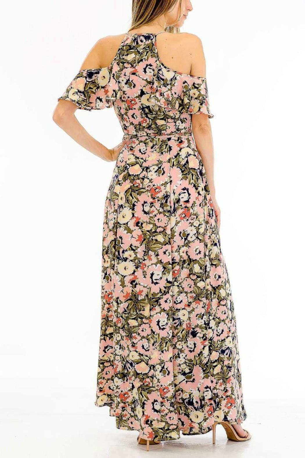 Olivaceous Floral Maxi Dress - Front Full Image