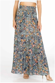 Olivaceous Floral Maxi Skirt - Product Mini Image
