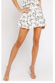 Olivaceous Floral Miniskirt - Front cropped