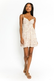 Olivaceous Floral Print Dress - Front cropped