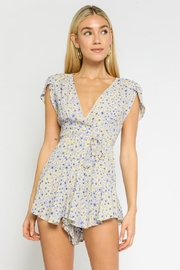 Olivaceous Floral Romper - Product Mini Image