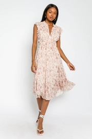 Olivaceous Floral Ruffled Midi - Front cropped