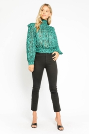 Olivaceous Floral Tie-Back Top - Front full body
