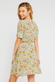 Olivaceous Floral Wrap Dress - Front full body