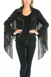 Olivaceous Fringe Jacket - Product Mini Image