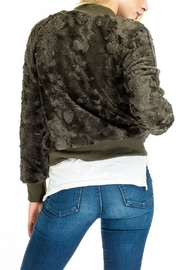 Olivaceous Furry Olive Bomber - Front full body