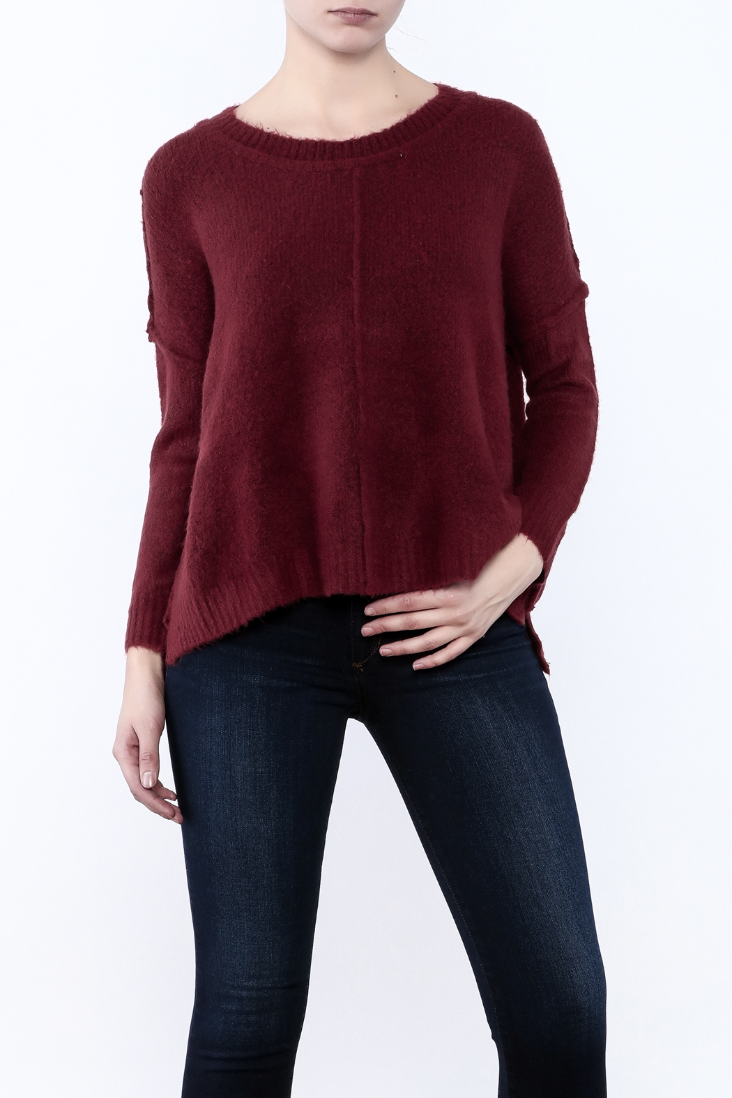 bf62ab2961a1f Olivaceous Fuzzy Boxy Sweater from California by Denim Spot — Shoptiques
