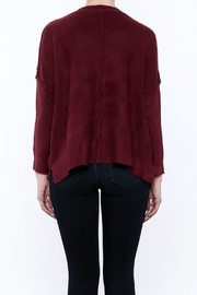 Olivaceous Fuzzy Boxy Sweater - Back cropped
