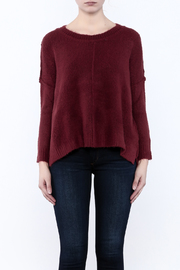 Olivaceous Fuzzy Boxy Sweater - Side cropped