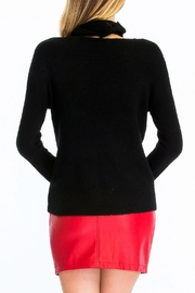 Olivaceous Fuzzy Choker Sweater - Side cropped
