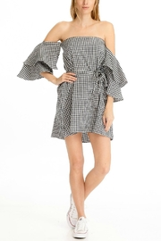 Olivaceous Gingham Off-Shoulder - Product Mini Image