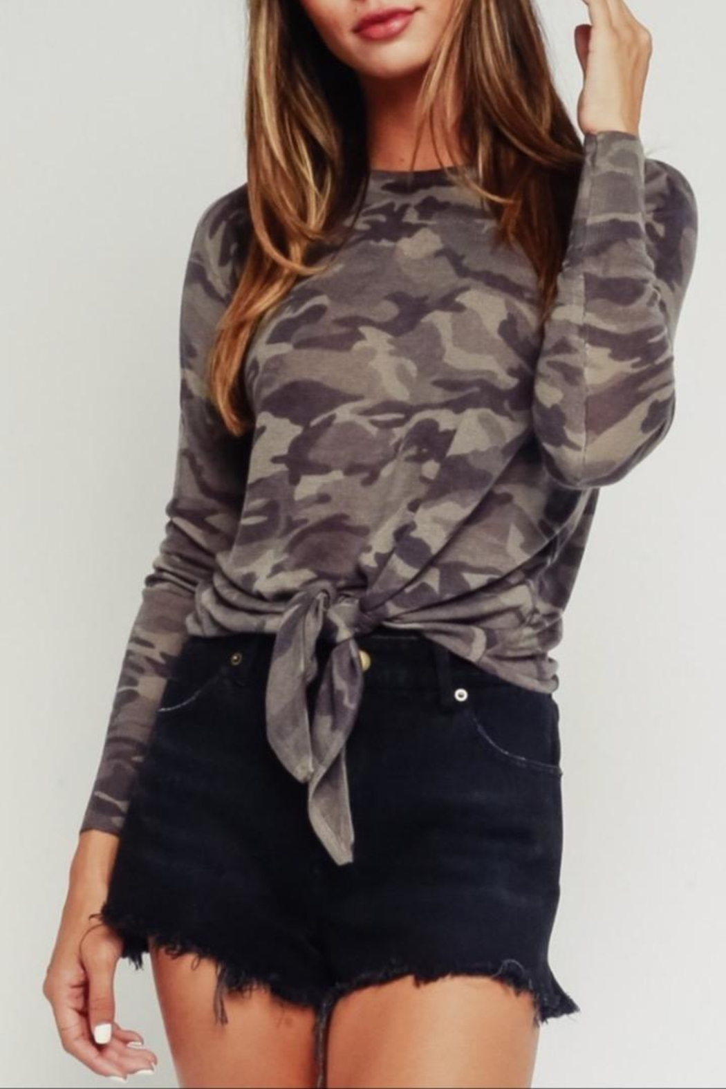 Olivaceous Grey Camo Sweater - Main Image