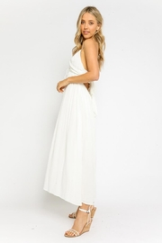 Olivaceous Halter Tie-Back Dress - Front full body