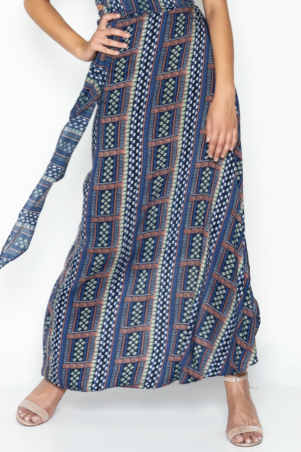 Olivaceous Hippie Maxi Skirt - Main Image