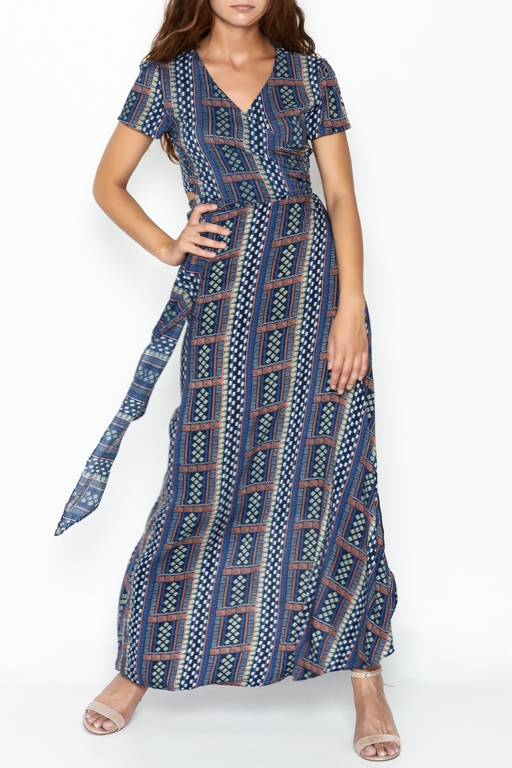 Olivaceous Hippie Maxi Skirt - Side Cropped Image