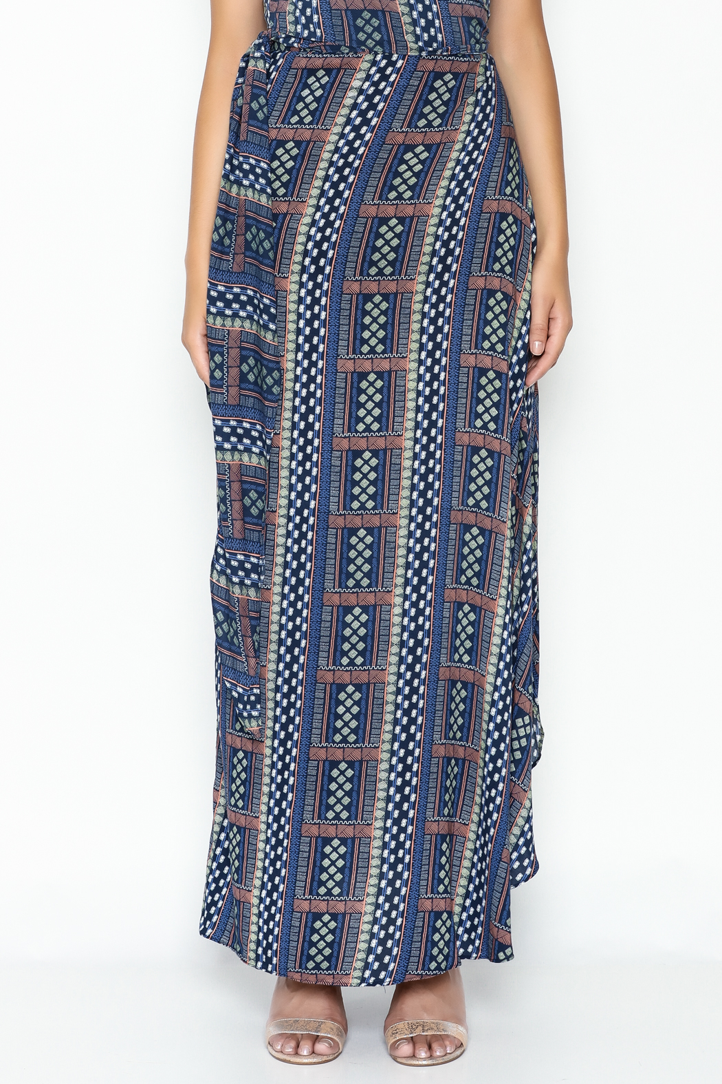Olivaceous Hippie Maxi Skirt - Back Cropped Image