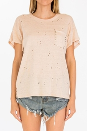 Olivaceous Hole Studded Top - Product Mini Image