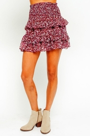 Olivaceous Isabel Smock Mini Skirt - Product Mini Image