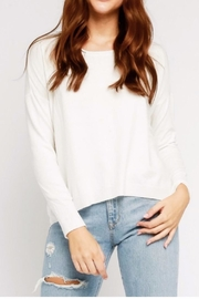Olivaceous Ivory Back-Zipper Sweater - Product Mini Image