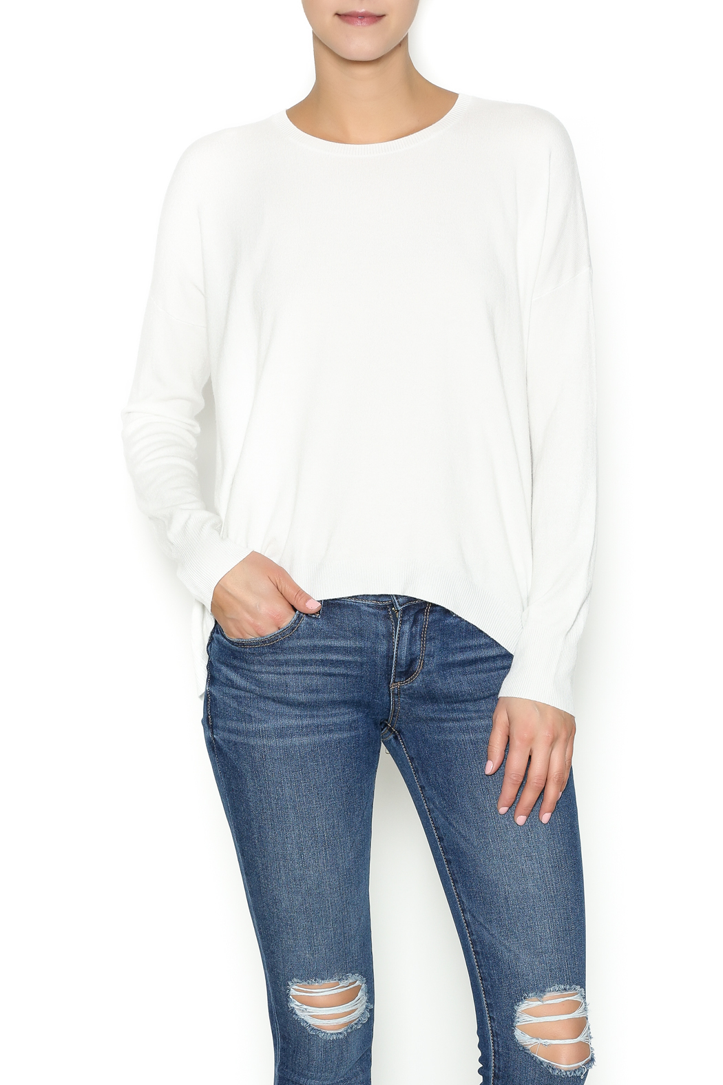 Olivaceous Ivory Soft Sweater - Main Image