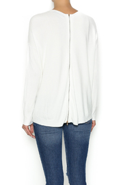 Olivaceous Ivory Soft Sweater - Back cropped