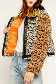 Olivaceous Jungle Fur Jacket - Product Mini Image