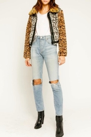 Olivaceous Jungle Fur Jacket - Front full body