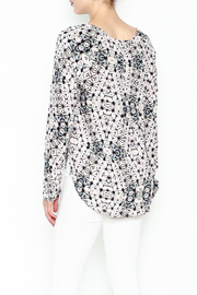 Olivaceous Kaleidoscope Print Blouse - Back cropped