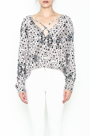 Olivaceous Kaleidoscope Print Blouse - Front full body